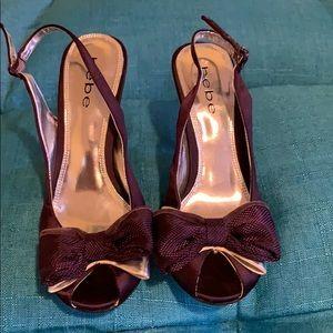 bebe Purple Heels